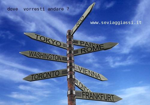 Se viaggiassi, dove vorresti andare ?