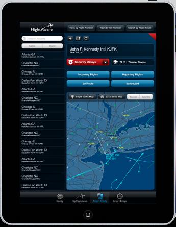 tracking volo su ipad