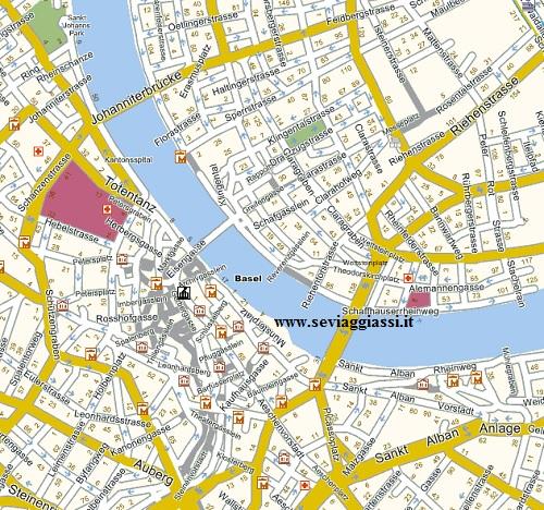 mappa centro basilea