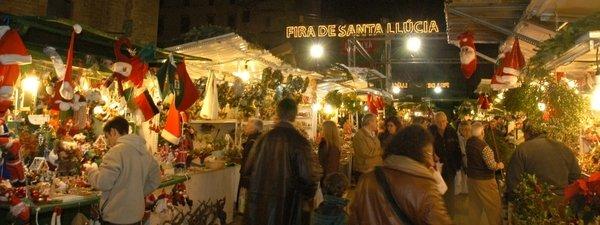 la fiera di santa lucia a Barcellona