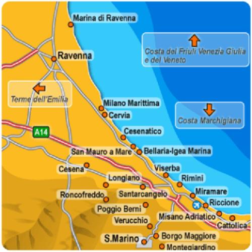 Milano Marittima Cartina Italia.Vacanze In Riviera Romagnola