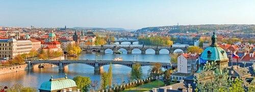 vista sul fiume Praga
