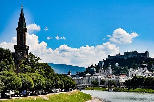 veduta del castello di salisburgo