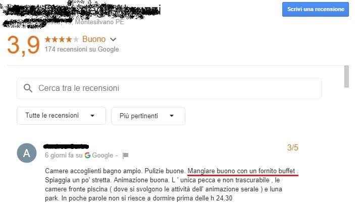 recensione google