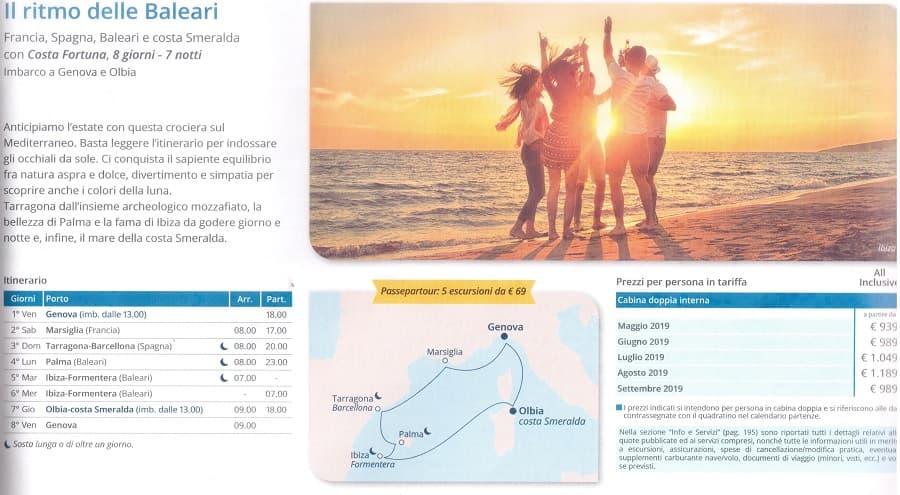 Crociera isole Baleari