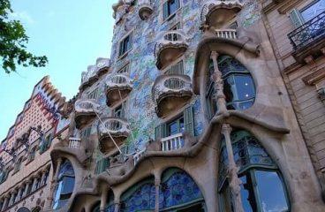 La casa Batllò di Gaudì a Barcellona