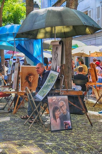 artisti a Montmartre